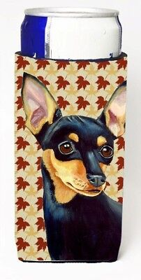 Carolines Treasures LH9110MUK Min Pin Fall Leaves Portrait Michelob Ultra s
