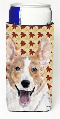 Carolines Treasures SC9672MUK Cardigan Corgi Fall Leaves Michelob Ultra bottle