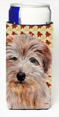 Carolines Treasures SC9688MUK Norfolk Terrier Fall Leaves Michelob Ultra