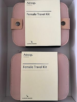 Pair of AESOP For Cathay Pacific First Class Airline Amenity Kits