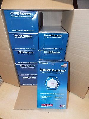 Gerson Niosh Approved 2130 N95 Respirator Mask Case Lot Of 10 Boxes 200 Mask  2