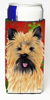 Carolines Treasures SC9415MUK Cairn Terrier Red and Green Snowflakes Holiday