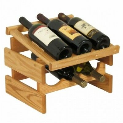 Wooden Mallet WRD31LO 6 Bottle Dakota Wine Rack with Display Top. Free Shipping