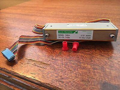 Weinschel model 5084 Programmable Step Attenuator DC-26.5 GHz 0-90 / 10dB 24v