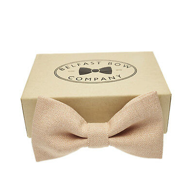Handmade Bow Tie in Blush Nude Gift Boxed Adult & Junior sizes available