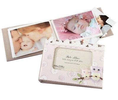 Pink Owl Photo Album Photo Frame On Cover Baby Girl Christening New Baby Gift