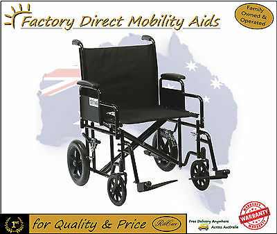 Drive Bariatric Steel Transit Transport Chair Wheelchair 200kg weight cap!