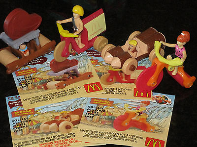 McDonalds Flintstones Stationery Series Full Set of 4 - 1993 Happy Meal toys