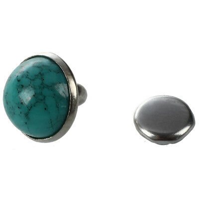 20 x Turquoise Studs Jewelry Rivets Hollow Rivets Blue DIY Round Rivets 7 mm