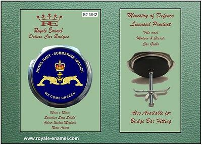 Royale Military Car Badge Royal Navy Submarine Service We Come Unseen  B2.3642