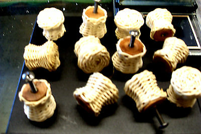 12 Vintage Wicker Knobs Pull Cabinet Furniture with Hardware