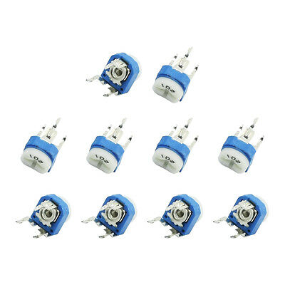 10Pcs 1K Ohm Single Turn Potentiometer Pot Variable Resistor WH06-2