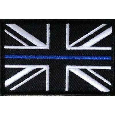 10 x Thin Blue Line Police Large  Union Jack Hook Loop Backed Patches UK Badge