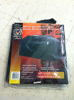 Grill Mate 018018 VINYL DELUXE GAS BARBECUE COVER 60X20X38 BBQ WINTER PROTECTION