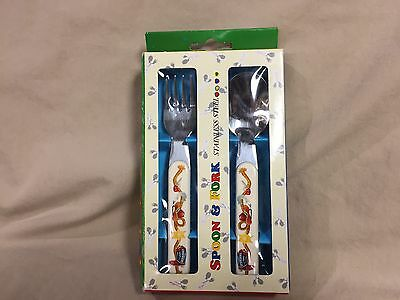 Cowboy Spoon and Fork Stainless Steel Flatware Pecoware Child Toddler Sized