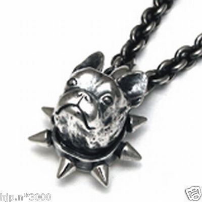 New!! French bulldog Pendant necklace figure Dog Animal Silver Free Shipping
