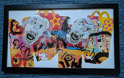 neverwork McDonald's Evil Bunch of Clowns signed limited edition framed 3/50