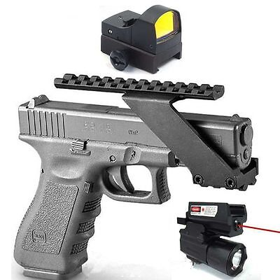 Tactical Holographic Dot Sight Scope w/ CREE LED Torch & Red Laser Pistol KIT
