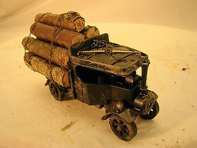 O scale Logging Truck with Steam Engine - custom weathered