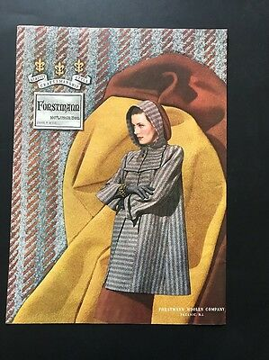 Forstmann Woolen Company | 1945 Vintage Print Ad | Large Ad Woman's Fashion