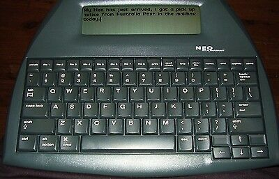 Lot of 2 ALPHASMART NEO PORTABLE WORD PROCESSOR With USB Cable