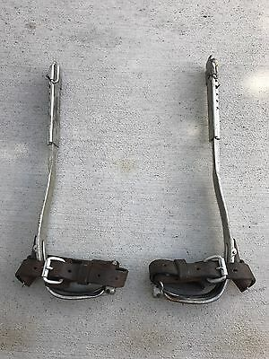 MSA / BROOKS Vintage Mine Safety Appliance TREE CLIMBING SPIKES GAFFS NICE!