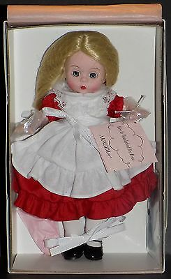 "Nmib Madame Alexander Alice In Wonderland Red Dress 8"" Doll 66985"
