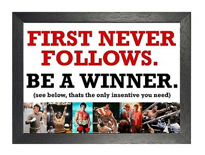 Rocky Balboa 52 Motivational Quote Boxing Legend Poster Stallone Sport Star