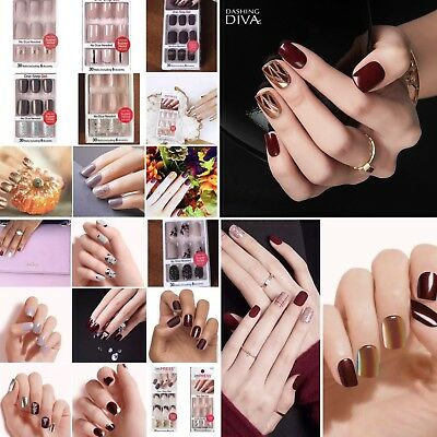 Kiss Impress Press On Nails Wine Beige Burgundy Brown Gold Natural Chrome Matte