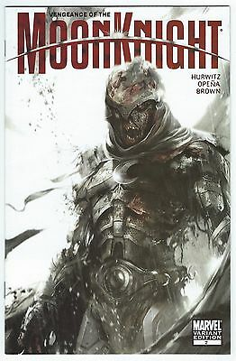 Vengeance of the Moon Knight #2 (Dec 2009 Marvel) Mattina 1:25 Zombie Variant NM