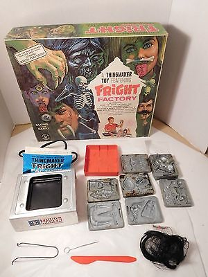 Thingmaker Fright Factory Kit 1966 7 Molds, Heater, Instructions by Mattel