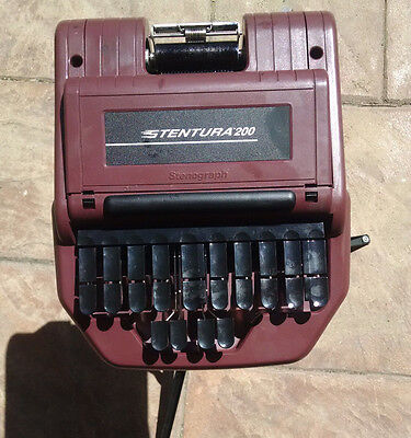 Stentura 200 Stenograph Court Reporter Type Writer Machine