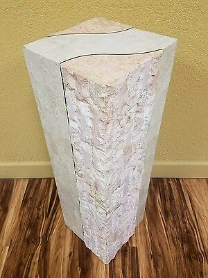 """Vintage Magnussen Presidential Tessellated Marble PEDESTAL 3' x 12"""" Table Stand"""