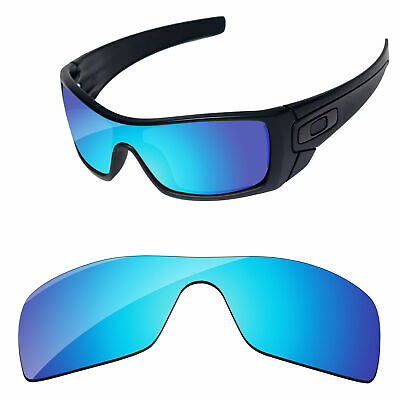 Ice Blue Mirror Polycarbonate Replacement Lenses For-Oakley Batwolf Sunglasses