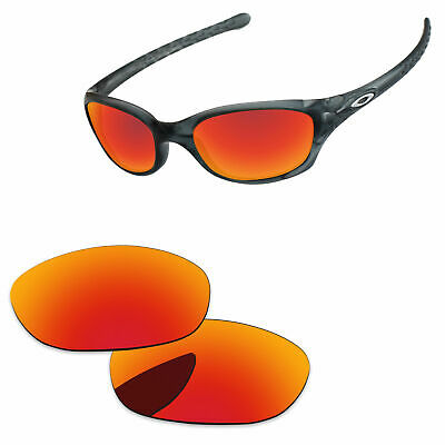 b4c9dd93e49 PapaViva Fire Red Mirror Polycarbonate Replacement Lenses For-Oakley Fives  2.0