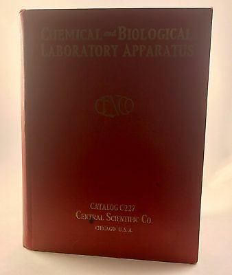 Chemical and Biological Laboratory Apparatus Catalog Central Scientific Co 1927