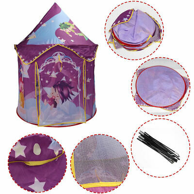 Kids Baby Play Tent Princess Castle Playhouse In/Outdoor Portable Foldable Gift