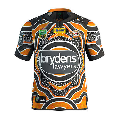Wests Tigers 2017 Indigenous Jersey Sizes Medium - 5XL NRL ISC In Stock Now!
