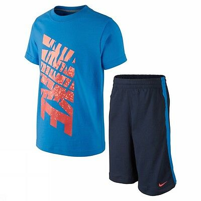 Nike Gfx Set Ss And Short Lk 644480 435 Completo Pant+T-Shirt Moda Xs