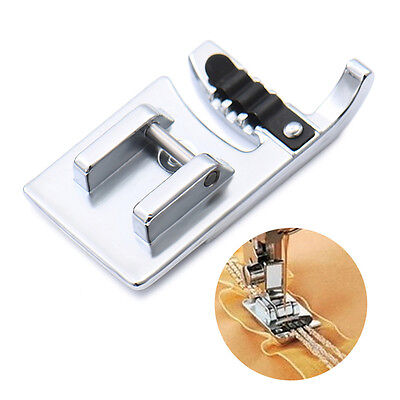Stainless Steel Home Electric Sewing Machine Cording Presser Foot Three Needle
