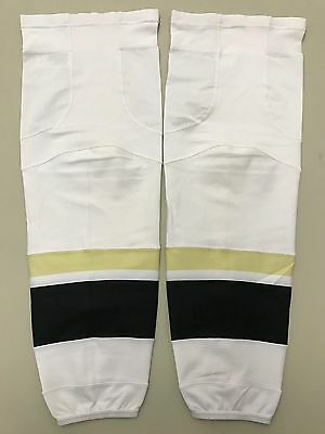 New! Reebok Pittsburgh Penguins NHL Pro Stock Hockey Player Game Socks XL Away W