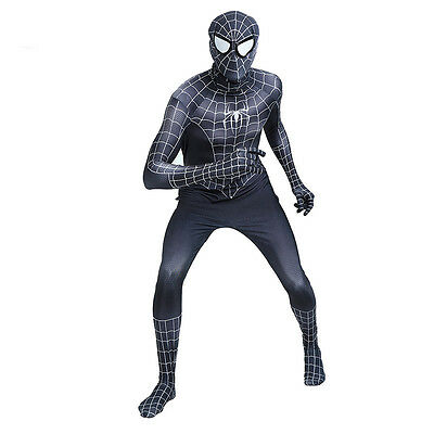 Spider-man Venom Suit Cosplay Costume Men Adult Halloween Party Zentai Bodysuit