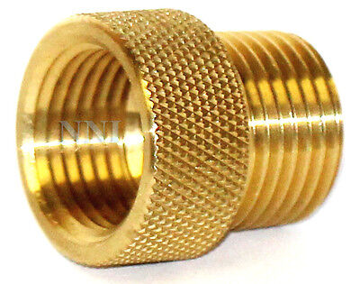 "1/2"" Male x Female NPT 1"" long Brass Fire Sprinkler-Head Extension Adapter"