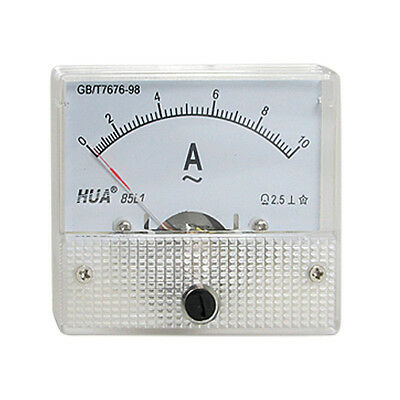 Class 2.5 Accuracy AC 0-10A Analog Panel AMP Meter 85L1