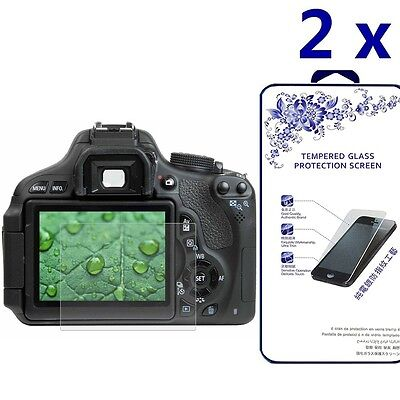 [2x] Tempered Glass Screen Protector For Canon 650D/70D/700D/750D/760D/80D