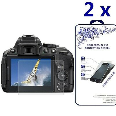 [2x] Ballistic Tempered Glass Screen Protector For Nikon D5300 D5500 D5600