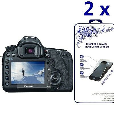 [2x] Glass Screen Protector For Canon EOS 5D Mark III MK IV 5DS 5DSR 5DIII 5DIV