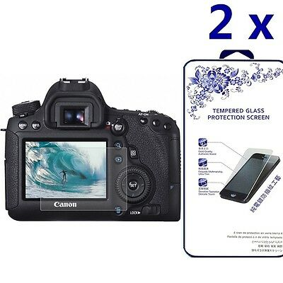 [2x] Tempered Glass Screen Protector For Canon EOS 7D Mark II / 70D / 80D