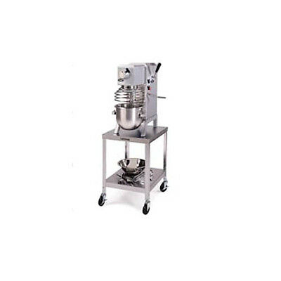 "Lakeside 517 24""x32""x21-3/16"" Stainless Steel Mobile Machine Stand"