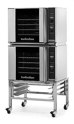 Moffat E31D4/2 Electric Dble Convection Oven Half Size 4 Pan w/ Fixed Stand